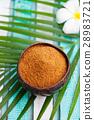 bowl, brown, coconut 28983721