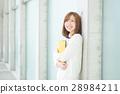 成熟的女人 一個年輕成年女性 女生 28984211