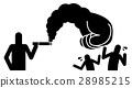 smoking, clenched fist, smoke 28985215