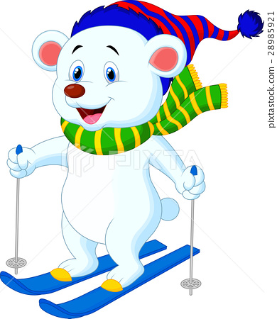 Polar bear skiing 28985921