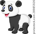 Cute panda bear cartoon 28985926