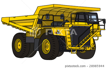 Yellow mining dump truck 28985944