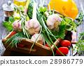 garlic and aroma herb 28986779
