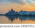 Budapest city skyline sunrise, Budapest, Hungary 28987051