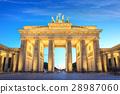 Brandenburg Gate at night, Berlin, Germany 28987060