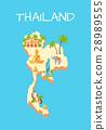 Thailand Island Isolated on Azure Background. 28989555