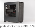 Tower computer case with transparent acryl side 28990274