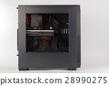 Tower computer case with transparent acryl side 28990275