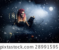 Beautiful witch making the witchcraft 28991595