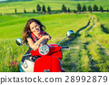 Young woman traveling in tuscany 28992879