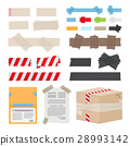 Set of Different Scotch Tape on White Background 28993142