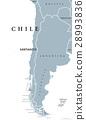 chile, map, strip 28993836