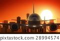 Kobe Japan Airplane Take Off Skyline Golden 28994574