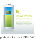 Green energy concept background with solar panel 28995247