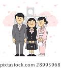 입학식, 벚꽃, 벡터 28995968