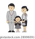 입학식 이미지 부모님과 여자 (초등학생) 28996091
