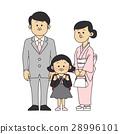 入学典礼 矢量 父母 28996101