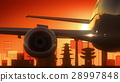 Kyoto Japan Airplane Take Off Skyline Golden 28997848