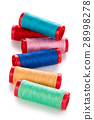 Set of colorful spools. 28998278