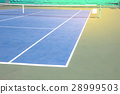 Outdoor tennis court 28999503