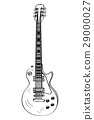 Isolated electric guitar outline 29000027