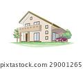 手写的样式房子的例证 29001265