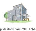 手写的样式房子的例证 29001266