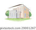 手写的样式房子的例证 29001267