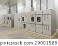 Electric control cabinet substation in a factory  29001589