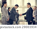 Business Partners Introductionary Handshake Bow 29003934