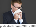 Business Man Sick Cry Tissue Paper 29005109