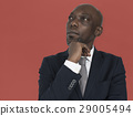 African Descent Man Thinking Concept 29005494