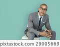 African Descent Business Man Thinking Concept 29005669