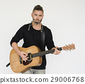 Man Playing Musical Instruments Concept 29006768