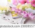 香豌豆花和大丁草桌照片 29008557
