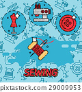 Sewing flat concept icons 29009953