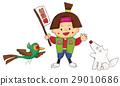 Momotaro, dog, pheasant 29010686