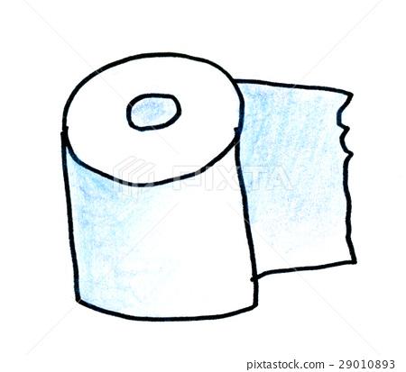 色的鉛筆例證衛生紙 29010893