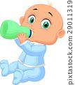 Baby boy drinking milk 29011319