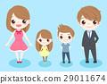 cartoon family smile happily 29011674