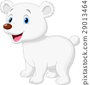 Cute polar bear cartoon 29013464