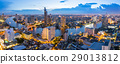Panorama Bangkok city with chaophraya river  29013812