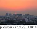 Bangkok city at sunset, Thailand 29013818
