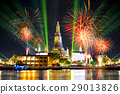 Wat Arun Temple with fireworks and laser lighting  29013826