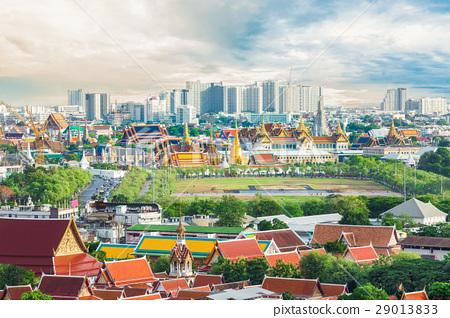 Top view Emerald Buddha Temple in Bangkok Thailand 29013833
