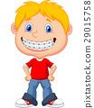 Little boy with brackets 29015758
