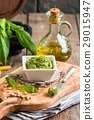Green basil pesto sauce 29015947