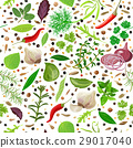 Cooking herbs and spices seamless pattern vector 29017040