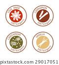 标签 圆的 邮票 29017051