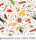 Cooking spices seamless pattern vector set 29017085